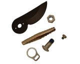 Čepel, šroubek, matice, očko a pružina k nůžkám